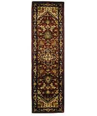 Safavieh Handmade Classic Heriz Red Wool Runner Rug
