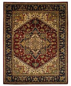 Safavieh Handmade Classic Heriz Red Wool Rug (9'6 x 13'6)