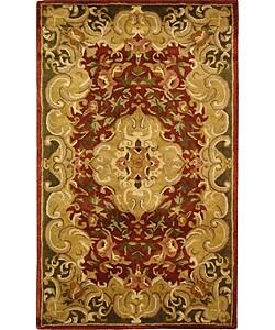 Safavieh Handmade Classic Juliette Rust/ Green Wool Rug (3' x 5')