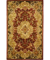 Safavieh Handmade Classic Juliette Rust/ Green Wool Rug - 3' x 5'