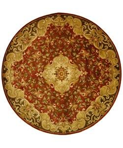 Safavieh Handmade Classic Juliette Rust/ Green Wool Rug (6' Round)