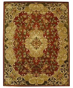 Safavieh Handmade Classic Juliette Rust/ Green Wool Rug (8'3 x 11')