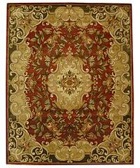 "Safavieh Handmade Classic Juliette Rust/ Green Wool Rug - 8'3"" x 11'"