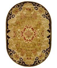 "Safavieh Handmade Classic Juliette Gold Wool Rug - 4'6"" x 6'6"" oval"