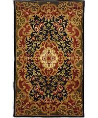 Safavieh Handmade Classic Juliette Black/ Green Wool Rug - 3' x 5'