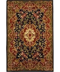 Safavieh Handmade Classic Juliette Black/ Green Wool Rug - 5' x 8'