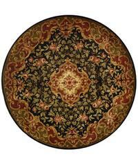 Safavieh Handmade Classic Juliette Black/ Green Wool Rug - 6' x 6' Round