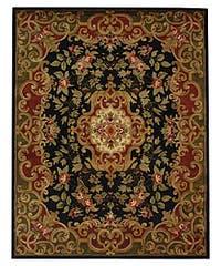 Safavieh Handmade Classic Juliette Black/ Green Wool Rug - 9'6 x 13'6