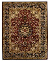 Safavieh Handmade Classic Kerman Burgundy/ Navy Wool Rug - 9'6 x 13'6