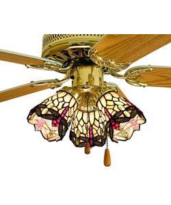 Scarlet Dragonfly Tiffany Style Ceiling Fan Overstock 2948330