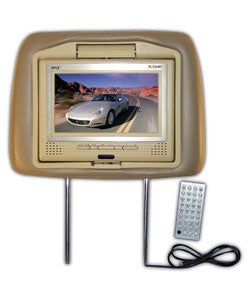 Pyle Headrest with Built-in Monitor and DVD Player (Refurbished)