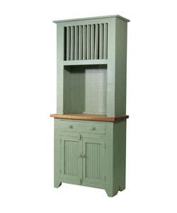 Rustic Small Turquoise Kitchen Hutch
