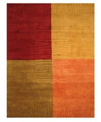 EORC Hand-tufted Wool Multi New Red Modern Rug (8'9 x 11'9)