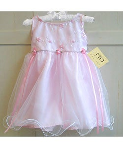 Sweet Jojo Designs Baby Pink Tulle Layered Party Dress