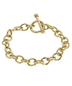 14k Gold over Silver 7.5-inch Charm Bracelet