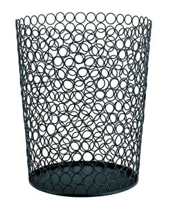 Shop wire circle round wastebasket free shipping on orders over 45 2965074 for Bedroom waste baskets decorative