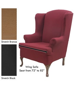 Stretch Wingback Sofa Slipcover Ping The Best Deals On Slipcovers