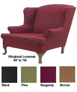 Fantastic Stretch Wingback Loveseat Slipcover Overstock Com Shopping The Best Deals On Loveseat Slipcovers Forskolin Free Trial Chair Design Images Forskolin Free Trialorg