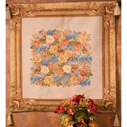 Prestige Floral Wall Art Tapestry with Tassels