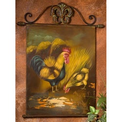 Shop Hand Painted Rooster And Chicken Metal Wall Art Free Shipping On Orders Over 45 Overstock 3006000