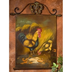 Shop Hand Painted Rooster And Chicken Metal Wall Art