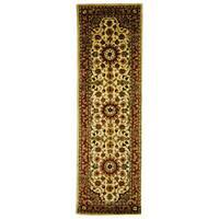 Safavieh Handmade Classic Kerman Ivory Wool Runner Rug