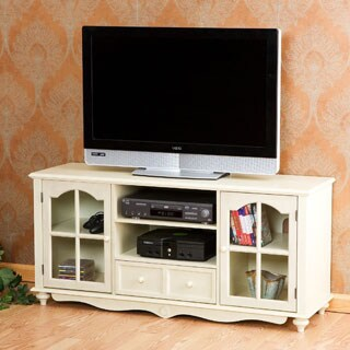 Harper Blvd Medallion Antique White TV Console