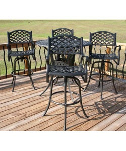 Nassau 5 Piece Bar Height Patio Furniture Set Free