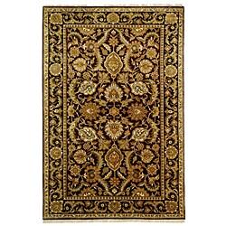 Safavieh Hand-knotted Burgundy/ Black Treasures Wool Rug (5' x 8')