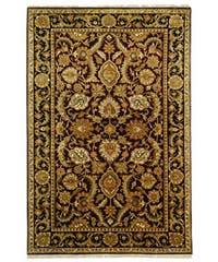 Safavieh Hand-knotted Burgundy/ Black Treasures Wool Rug - 6' x 9'