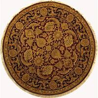 Safavieh Hand-knotted Burgundy/ Black Treasures Wool Rug - 8' x 8' Round