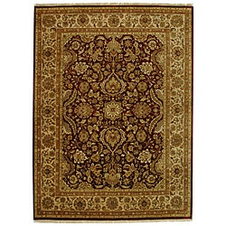 Safavieh Hand-knotted Rust/ Ivory Timeless Wool Rug (8' x 10') - Thumbnail 0