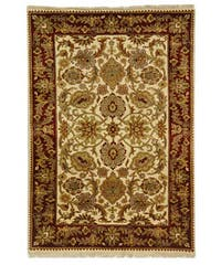 Safavieh Hand-knotted Ivory/ Red Everlasting Wool Rug - 4' x 6'