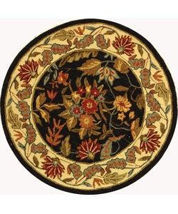 Safavieh Handmade Paradise Black Wool Rug (4' Round)