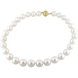 Miadora 14k Gold Cultured White South Sea Pearl Necklace (13-15mm)