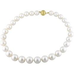 Miadora 14k Gold Cultured White South Sea Pearl Necklace (13-15mm)