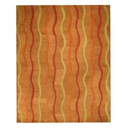 Hand-tufted Kongo Wool Rug (5' x 8')