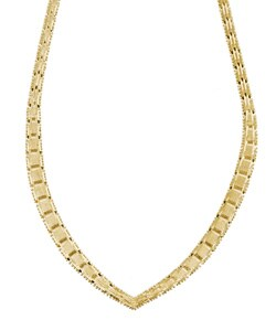 Sterling Essentials 14k Gold over Sterling Silver Necklace