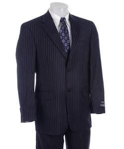 Austin Reed London Men S Navy Pinstripe Wool Suit Overstock 3078778
