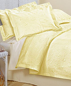 Shop Beach Yellow Matelasse Coverlet Set Free Shipping