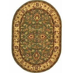 Safavieh Handmade Heritage Timeless Traditional Blue/ Beige Wool Rug (7'6 x 9'6 Oval)