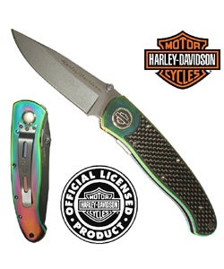 Titanium Elite Legend Knife by Harley Davidson - Thumbnail 0