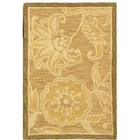 Safavieh Hand-hooked Eden Abrashed Beige/ Light Brown Wool Rug - 1'8 x 2'6