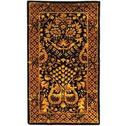 Safavieh Handmade Majestic Black New Zealand Wool Runner (2'3 x 4')