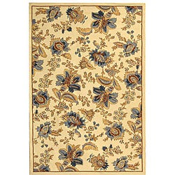 Safavieh Hand-hooked Garden Ivory Wool Rug (8'9 x 11'9) - 8'9 X 11'9 - Thumbnail 0