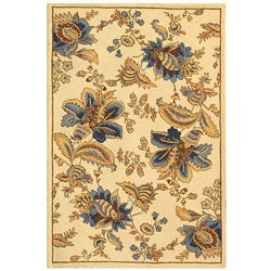 Safavieh Hand-hooked Garden Ivory Wool Rug (3'9 x 5'9)