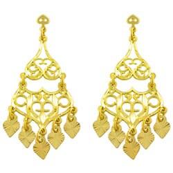 Thumbnail 1, Fremada 14k Yellow Gold Filigree Chandelier Earrings.