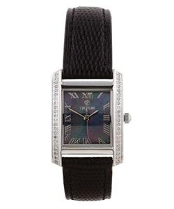 Croton Women's CN207057BSBK Stainless Steel Silvertone Diamond Watch