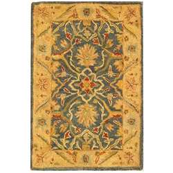Safavieh Handmade Antiquities Mahal Blue/ Beige Wool Rug (2' x 3')
