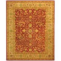 Safavieh Handmade Antiquities Mahal Rust/ Beige Wool Rug - 9'6 x 13'6